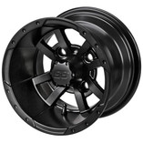 10 x 7 Matte Black Maltese Cross Wheel