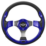 "12.5"" Blue Steering Wheel by Route 66 Golf Cart Accessories"
