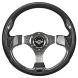 "12.5"" Carbon Fiber Steering Wheel by Route 66 Golf Cart Accessories"