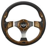 "12.5"" Woodgrain Steering Wheel by Route 66 Golf Cart Accessories"