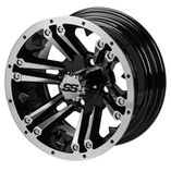 12 x 6 Machined/Black Raider Wheel