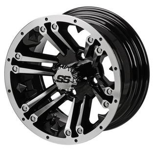 12 x 6 Machined/Black Raider Wheel