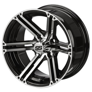 12 x 6 Machined/Black Yukon Wheel