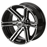 12 x 6 Machined/Black Yukon Wheel