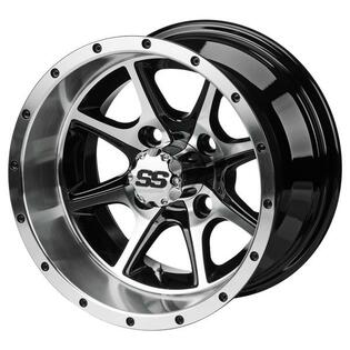 12x7 Machined/Black Azusa Wheel