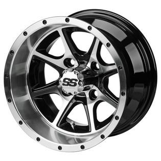 12x7 Machined/Black Azusa Wheel