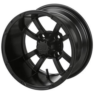 12x7 Matte Black Maltese Cross Wheel