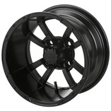 12x7 Matte Black Maltese Cross Wheel