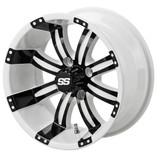 12 x 7 White/Black Casino Wheel