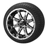 14x7 Black & Machined Revenge Wheel w/Black Inserts on 215/35-14 LSI Elite