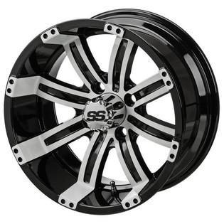 14 x 7 Black/White Casino Wheel