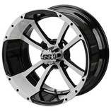 14 x 7 Black/White Maltese Cross Wheel
