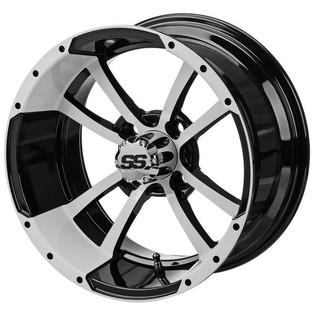 14 x 7 Black/White Maltese Cross Wheel