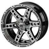 14 x 7 Machined Black Chaos Wheel