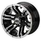 14 x 7 Machined Black Raider Wheel