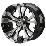 14 x 7 Machined Black Warlock Wheel