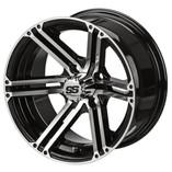 14 x 7 Machined Black Yukon Wheel