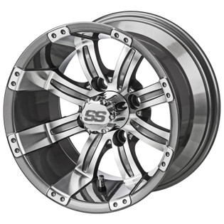 14 x 7 Machined Gun Metal Gray Casino Wheel