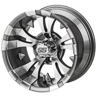 14 x 7 Machined and Gun Metal Gray Warlock Wheel