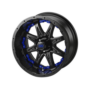 14 x 7 Matte Black Revenge Wheel with Blue Inserts