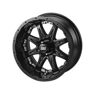 14 x 7 Matte Black Revenge Wheel with Chrome Inserts