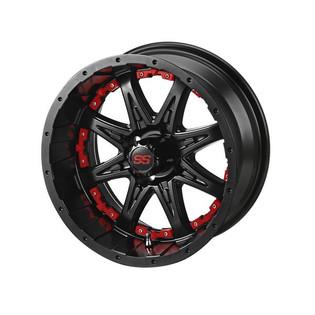 14 x 7 Matte Black Revenge Wheel with Red Inserts