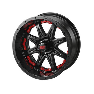 14 x 7 Matte Black Revenge Wheel with Red Inserts