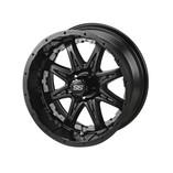 14 x 7 Matte Black Revenge Wheel with Silver Inserts