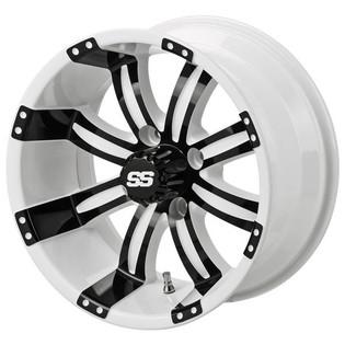 14 x 7 White and Black Casino Wheel