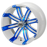 14 x 7 White and Blue Casino Wheel