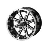15 x 7 Black and Machined Revenge Wheel with Black Inserts