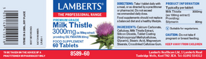 Lamberts Milk Thistle 3000mg 60 Tablets