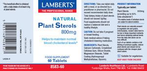 Lamberts Plant Sterols 800mg 60 Capsules