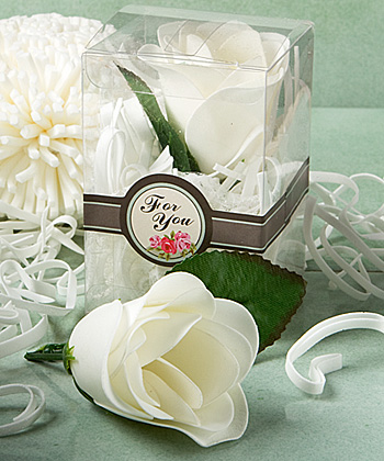 Rose Design Soap Favors