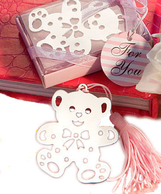 Lovable Teddy Bear Bookmarks Pink