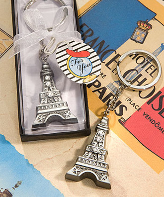 Love In Paris Eiffel Tower Key Chains