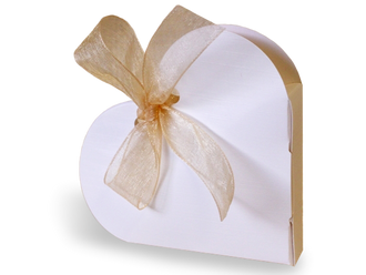 Heart Shape Candy Favor Box