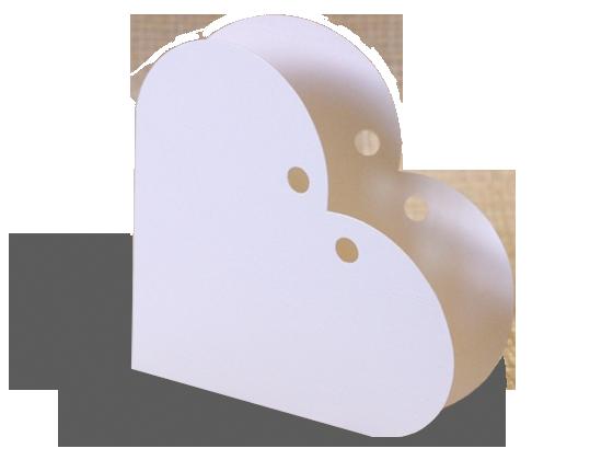 Heart Shape Candy Favor Box