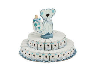 Teddy Bear Baby Shower Centerpiece & Favor Boxes