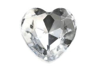 Heart Shape Acrylic Stone