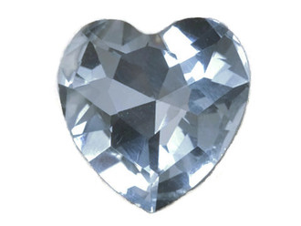 Heart Shape Glass Rhinestone