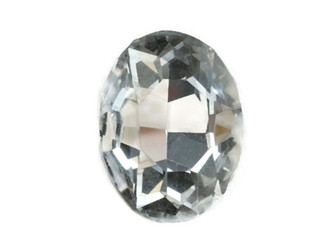 Oval Shape Glass Rhinestone