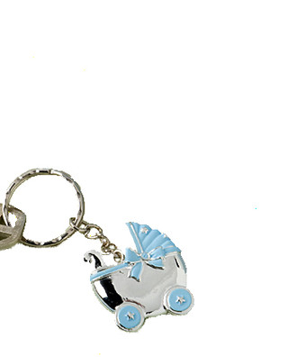 Blue Baby Carriage Key Chains