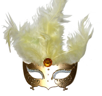 Masquerade Mask Ornament/Gold