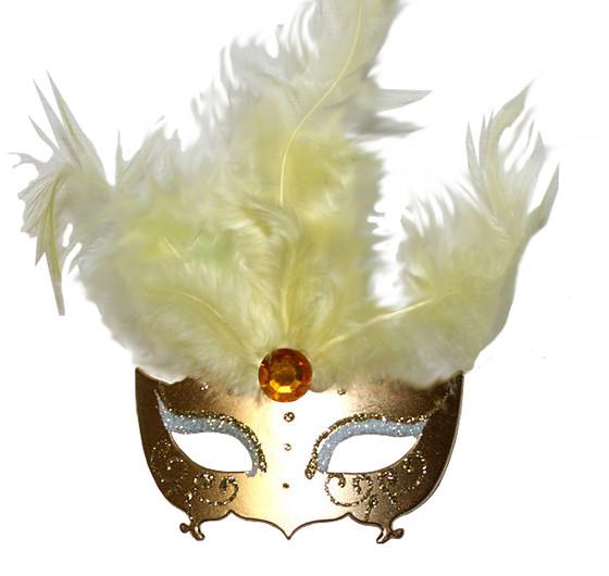 Masquerade Mask Ornament/Gold