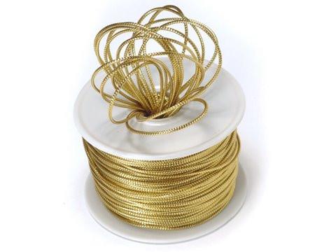 Ribbon Shiny Rope Cord-Gold