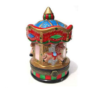 Red Carousel Trinket Box