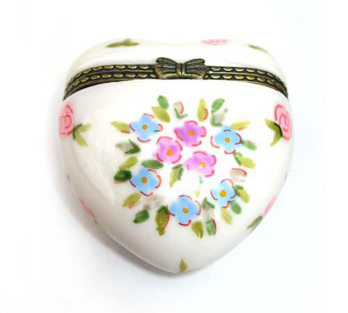 Trinket Box Daisies Heart