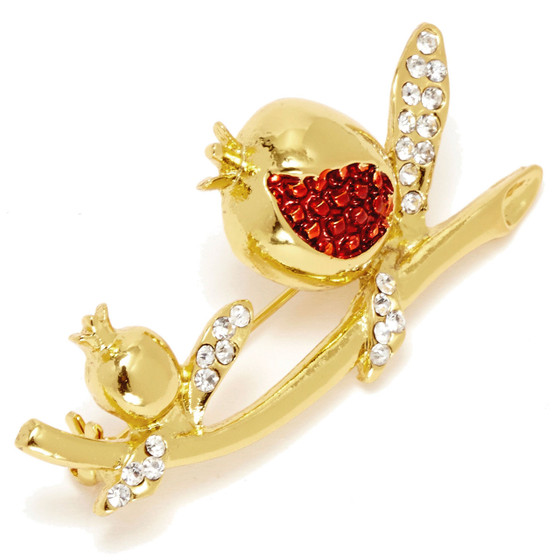 Pomegranate Gold Plated Brooch