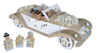 Antique Car Mulberry Paper Beige